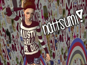 Sims 2 — Nattsumi by xMewsly — Nattsumi. I created her outfit. More at http://sqwuishysims.weebly.com/ ^0^ Hair: Evanesco