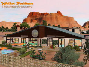 Sims 3 — Walker Residence by Satureja2 — a midcentury modern home You'll live in a warm and inviting one story house with