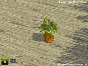 Sims 3 — Lansbur Outdoor Table Plant by TheNumbersWoman — For the outdoor planning in all of us.The NumbersWoman at TSR.