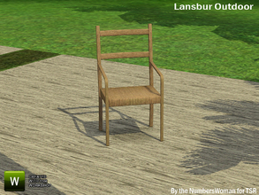 Sims 3 — Lansbur Outdoor Chair by TheNumbersWoman — For the outdoor planning in all of us.The NumbersWoman at TSR.