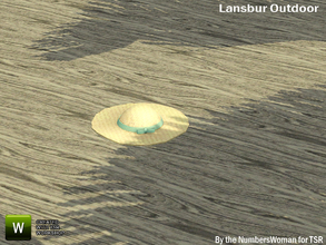 Sims 3 — Lansbur Outdoor Hat by TheNumbersWoman — For the outdoor planning in all of us.The NumbersWoman at TSR.