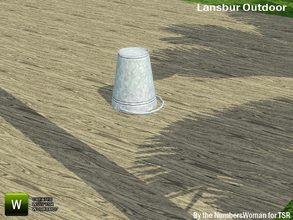Sims 3 — Lansbur Outdoor Upsidedown Pail by TheNumbersWoman — For the outdoor planning in all of us.The NumbersWoman at