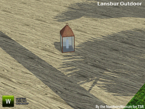 Sims 3 — Lansbur Outdoor Light by TheNumbersWoman — For the outdoor planning in all of us.The NumbersWoman at TSR.