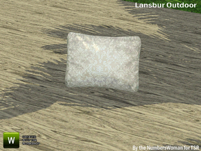 Sims 3 — Lansbur Outdoor Pillow by TheNumbersWoman — For the outdoor planning in all of us.The NumbersWoman at TSR.