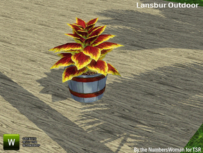 Sims 3 — Lansbur Outdoor Colius Plant by TheNumbersWoman — For the outdoor planning in all of us.The NumbersWoman at TSR.