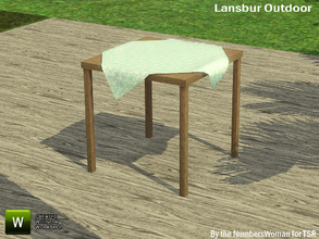 Sims 3 — Lansbur Outdoor Table by TheNumbersWoman — For the outdoor planning in all of us.The NumbersWoman at TSR.