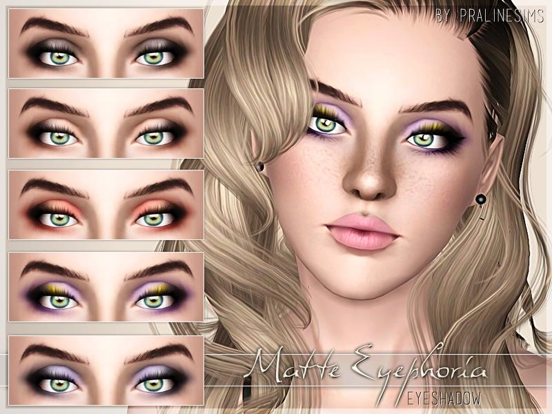 pralinesims' matte eyephoria eyeshadow