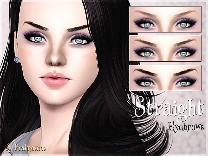 Pralinesims' Straight Eyebrows