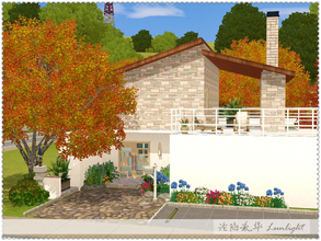 Sims 3 — Autumn's White Dews by Lunlight2 — Lovely contemporary home featuring two bedrooms, two bathrooms, a basement
