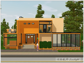 Sims 3 — Warm Winter by Lunlight2 — Fantastic modern abode in bright, bold colors featuring three bedrooms, a nursery and