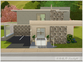 Sims 3 — Spring's Pure Brightness by Lunlight2 — Stunning contemporary home features two bedrooms, two and one half