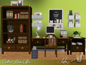 Sims 3 — Carlton Home Office by Lulu265 — A small home office for that bare corner of your room. Plenty of storage place