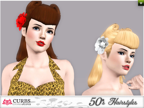 Sims 3 — curbs 50s hairstyles01v2 by Colores_Urbanos — my first creations hairstyle. is not perfect, sorry! I wanting to