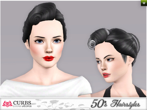 Sims 3 — curbs 50s hairstyles02 by Colores_Urbanos — my first creations hairstyle. is not perfect, sorry! I wanting to