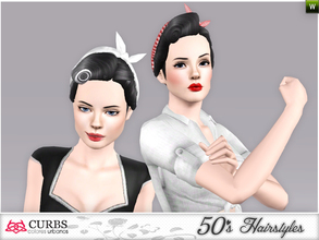 Sims 3 — curbs 50s hairstyles02v2 by Colores_Urbanos — my first creations hairstyle. is not perfect, sorry! I wanting to