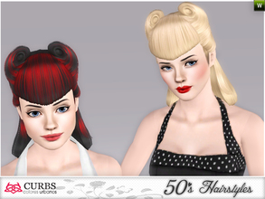 Sims 3 — curbs 50s hairstyles01 by Colores_Urbanos — my first creations hairstyle. is not perfect, sorry! I wanting to