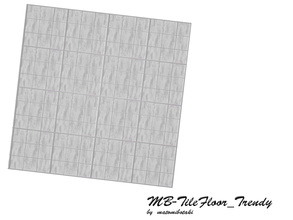 Sims 3 — MB-TileFloor_Trendy by matomibotaki — MB-TileFloor_Trendy, matching tile floor for the - TileWall_Trendy - with