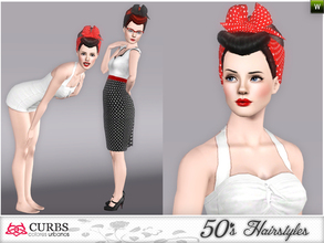 Sims 3 — curbs 50s hairstyles04v2 by Colores_Urbanos — retro hairstyle for teens and young adults. From Paraguay with