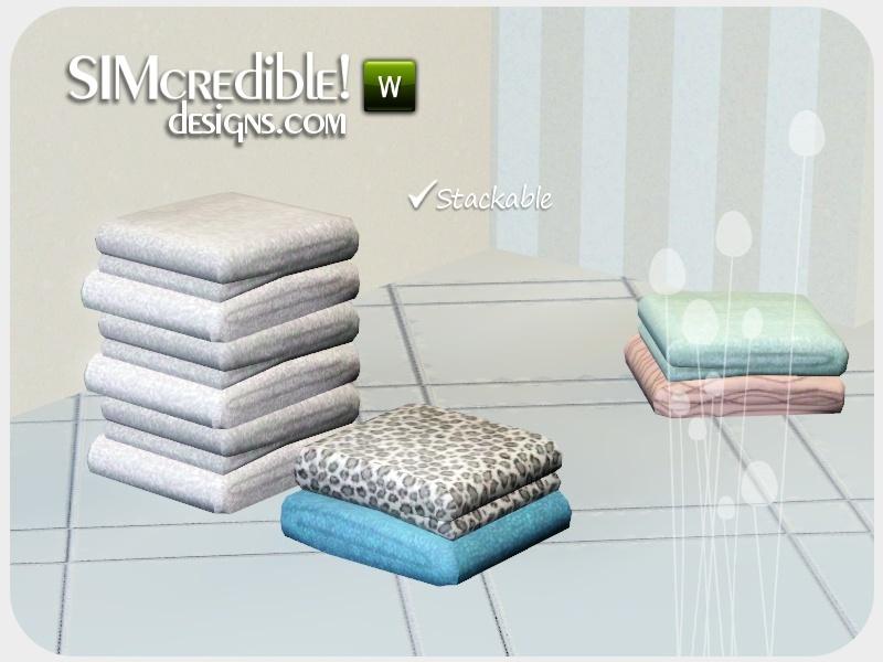 Simcredible 39 s coastal bathroom towels pile for Bathroom decor sims 3