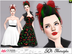 Sims 3 — curbs 50s hairstyles05 by Colores_Urbanos — retro hairstyle for teens and young adults. From Paraguay with love!