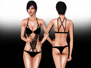 Sims 3 — Sweet Sacrifice Lingerie by saliwa — Lace Detail Lingerie by Saliwa