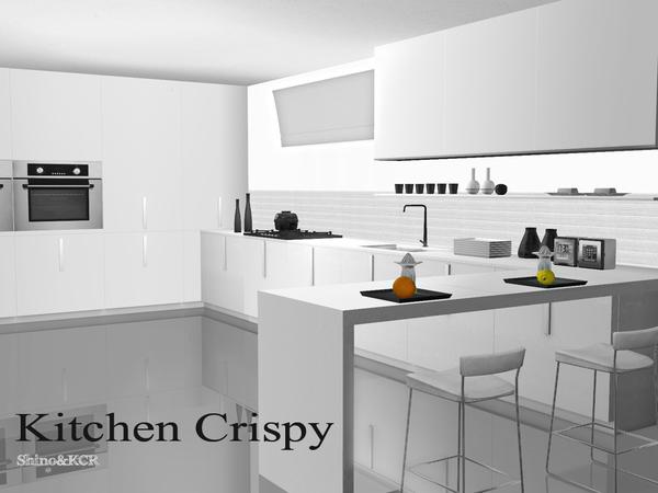 Shinokcr 39 s kitchen crispy for Modern kitchen sims 3