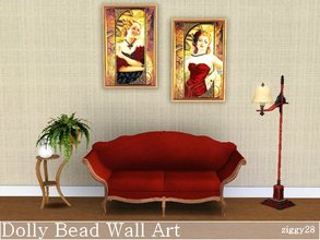 Sims 3 — Dolly Bead Wall Art by ziggy28 — A set of 2 Dolly Bead Wall Art pictures in an Art Deco style. Game mesh.