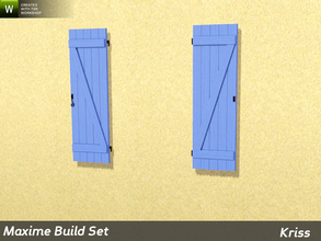 Sims 3 — Maxime Counter-Height Window Shutters by Kriss — The shutters are tailor-made for the windows in this set. They