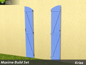 Sims 3 — Maxime Arched Full-Height Window Shutters by Kriss — The shutters are tailor-made for the windows in this set.