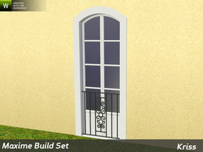 Sims 3 — Maxime Window Guard Stephanie - Full-Height Windows by Kriss — Decorative protection for windows made from
