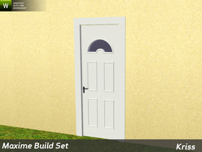 Sims 3 — Maxime Single Entrance Door with Glass 2-tile by Kriss — Rustic elegance whether it's the countryside in