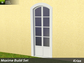 Sims 3 — Maxime Arched Full-Height Single Window 1-tile by Kriss — Rustic elegance whether it's the countryside in