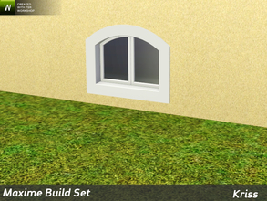 Sims 3 — Maxime Arched Loft Single Window 1-tile by Kriss — Rustic elegance whether it's the countryside in Provence or a