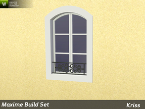 Sims 3 — Maxime Window Guard Stephanie - Counter-Height Windows by Kriss — Decorative protection for windows made from