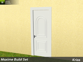 Sims 3 — Maxime Single Entrance Door 2-tile by Kriss — Rustic elegance whether it's the countryside in Provence or a