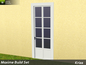 Sims 3 — Maxime Single Patio Door 2-tile by Kriss — Rustic elegance whether it's the countryside in Provence or a rustic