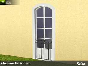 Sims 3 — Maxime Window Guard Ariane - Full-Height Windows by Kriss — Decorative protection for windows made from sturdy