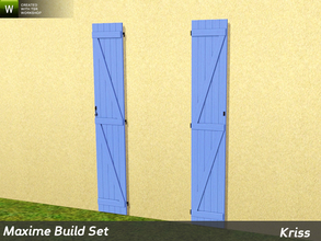 Sims 3 — Maxime Full-Height Window Shutters by Kriss — The shutters are tailor-made for the windows in this set. They