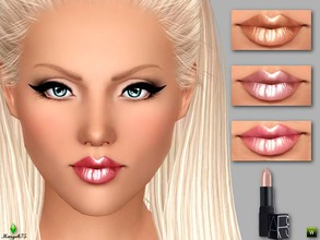 Sims 3 — Metallic Shine Lipstick by Margeh-75 — -a lustrous lipstick with a metallic shine -3 recolourable channels