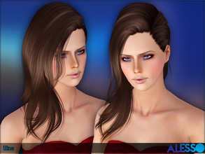 Sims 3 — Alesso - Wine (Hair) by Anto — Side hair for females (Teen-Elder)