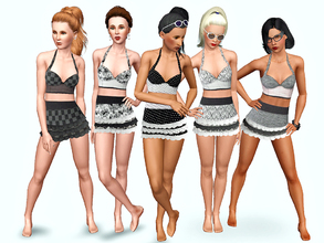 Sims 3 — Retro Bikini With Skirt by Wimmie — A new retro/vintage bikini for your YA/Adults. Needs only base game.