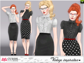 Sims 3 — curbs vintage office outfits 01 by Colores_Urbanos — for teens and young adults. valid for maternity!!!! From
