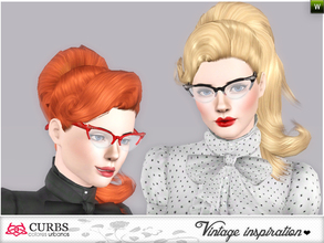 Sims 3 — curbs 50s hairstyles06 by Colores_Urbanos — retro inspiration. hairstyle for teens and young adults. From