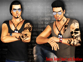 Sims 3 — Rebel Tshirt with Necklace by saliwa — Necklace included tshirt. Design by Saliwa