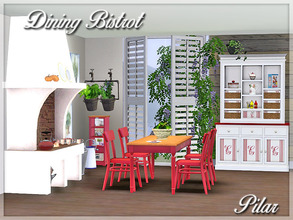 Sims 3 — Dining Bistrot by Pilar — Style tradition, cozy rural warmth, full of memories