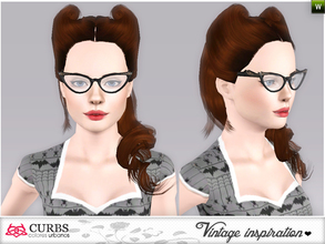 Sims 3 — curbs vintage hairstyles07 by Colores_Urbanos — retro inspiration. hairstyle for teens and young adults. From