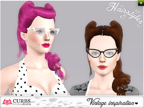 Sims 3 — set vintage hairstyles by Colores_Urbanos — retro inspiration. hairstyle for teens and young adults. From