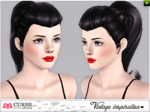 Sims 3 — curbs vintage  hairstyles08 by Colores_Urbanos — retro inspiration. hairstyle for teens and young adults. From