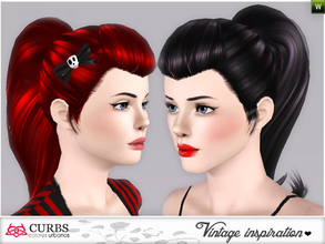 Sims 3 — set vintage hairstyles 2 by Colores_Urbanos — retro inspiration. hairstyle for teens and young adults. From