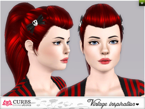 Sims 3 — curbs vintage  hairstyles08v2 by Colores_Urbanos — retro inspiration. hairstyle for teens and young adults. From